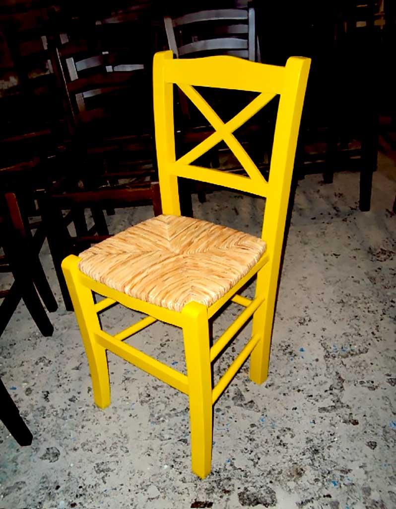 Ξύλινη Καρέκλα Χίος Oυζερί Ταβέρνας Καφενείου Εστιατορίου Καφετέριας από 19.5€ (size 38Χ42Χ87)