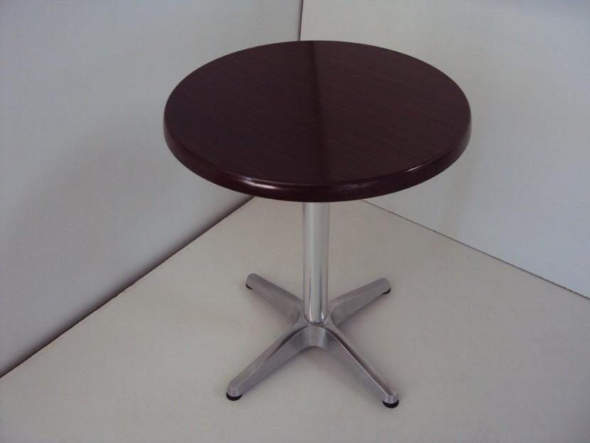 Επαγγελματικό Τραπέζι με Werzalit (Φ60) από 48€ με βάση αλουμινίου , Εστιατορίου Ταβέρνας Καφετέριας Καφενείου Cafe Bar