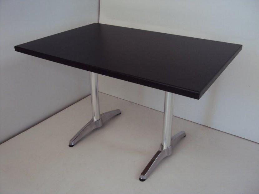 Επαγγελματικό Τραπέζι Ξύλινο (120Χ80) από 112€ με βάση αλουμινίου, Εστιατορίου Ταβέρνας Καφετέριας Καφενείου Cafe Bar
