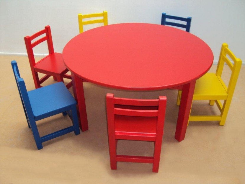 c7bb07c9443 Επαγγελματικό Παιδικό Ξύλινο Τραπέζι 105€ Λάκα (Φ110Χ54) κατάλληλο για  Εξοπλισμούς παιδικών σταθμών και νηπιαγωγείων.
